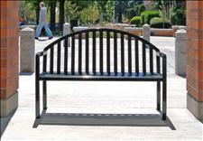 2824-4 Manor Arched Back Bench with Armrests