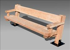 Arbor 2210-6-P Bench with Armrests