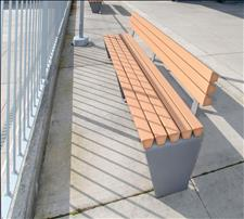2011-6-RP Bench, recycled plastic slats, U.S. Patent D812,924