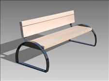 Custom Bench with Arched Ends