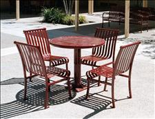 2912-0036 Renaissance Round Table with four 2911-20 Chairs
