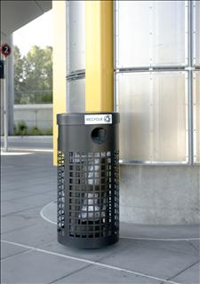 Custom Security Litter/Recycling Container