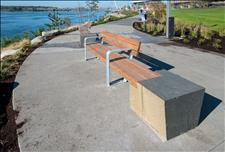 Custom Waterfront Bench